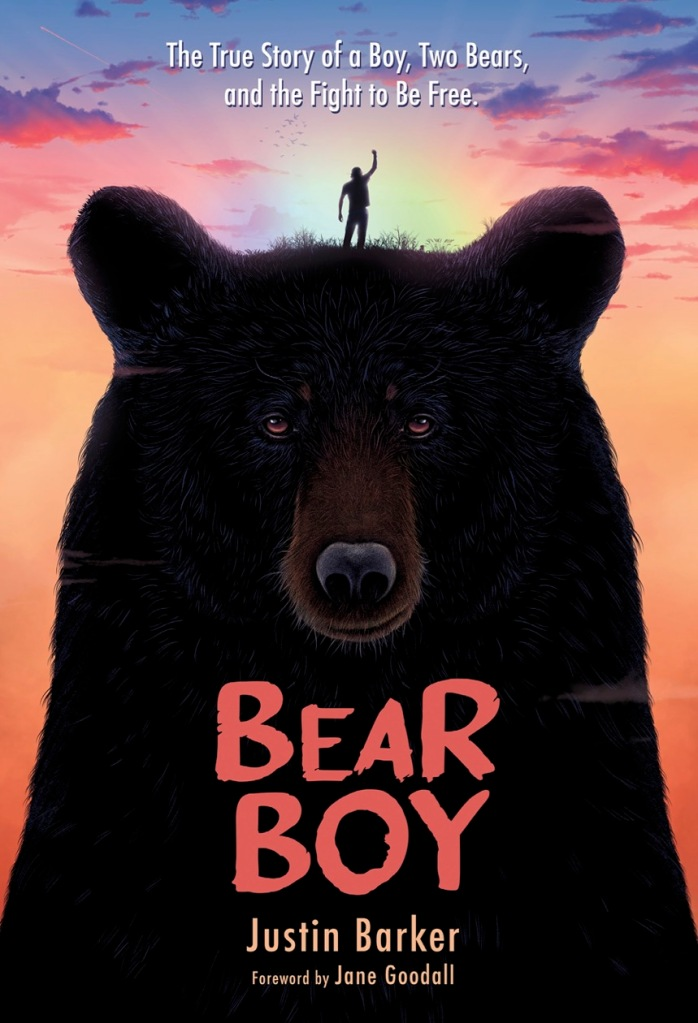 Illustrated book cover for Bear Boy: The True Story of a Boy, Two Bears, and the Fight to Be Free.